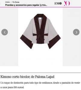Yo Dona Paloma Lajud kimono casual coleccion otoño invierno moda