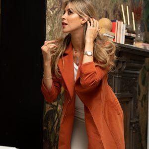 bata abrigo color caldero de pana coleccion otoño invierno paloma lajud