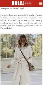 Paloma Lajud blog hola sara rivera